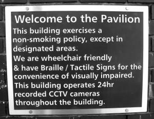 Pavilion Sign